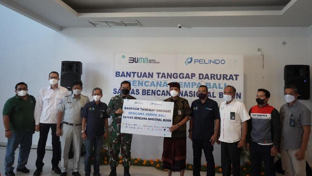 Pelindo Salurkan Bantuan Senilai Rp 800 Juta untuk Korban Gempa Bali