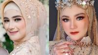 7 Adu Gaya Hijab Istri Ridho dan Rizki DA yang Parasnya Disebut Mirip