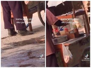Gara-gara Pakai Sepatu Pantofel, Tukang Bakso Ini Dicurigai Intel