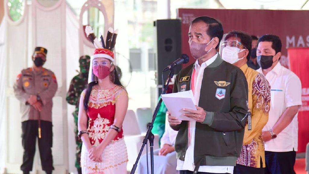 Vaksinasi di Kalsel Masih Rendah, Jokowi Terima Laporan Stok Vaksin Kurang