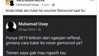 Viral Pria Ngaku Punya 3.019 Bitcoin, Menyesal Ditukar Voucher Game
