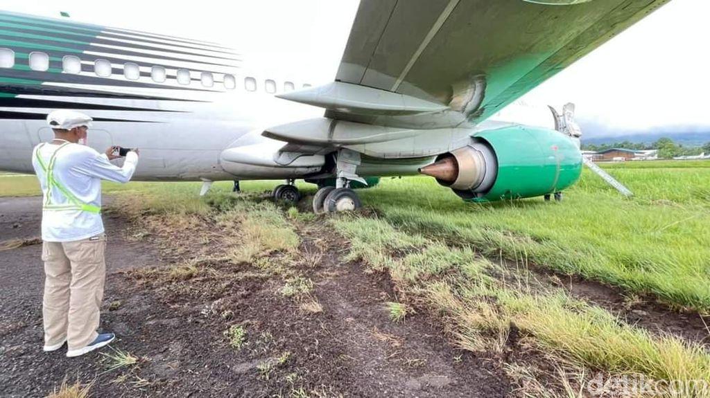 3 Fakta Terkini Pesawat Jayawijaya Dirgantara Tergelincir di Sentani