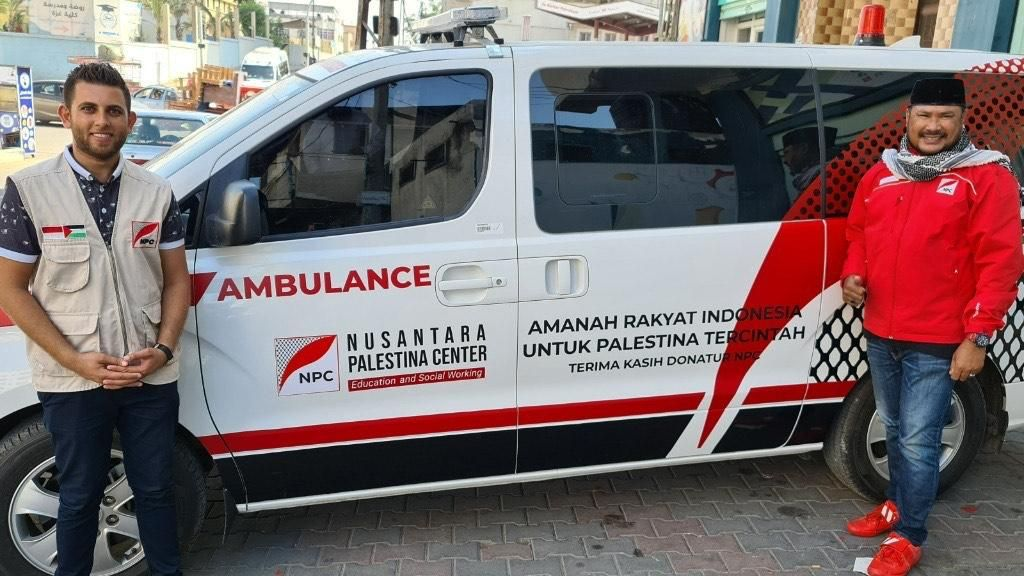 Nusantara Palestina Center Sumbang 5 Ambulans untuk Warga Palestina
