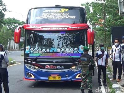 Tak Patuhi Ganjil Genap, Puluhan Bus Pariwisata Gagal Masuk Gunungkidul