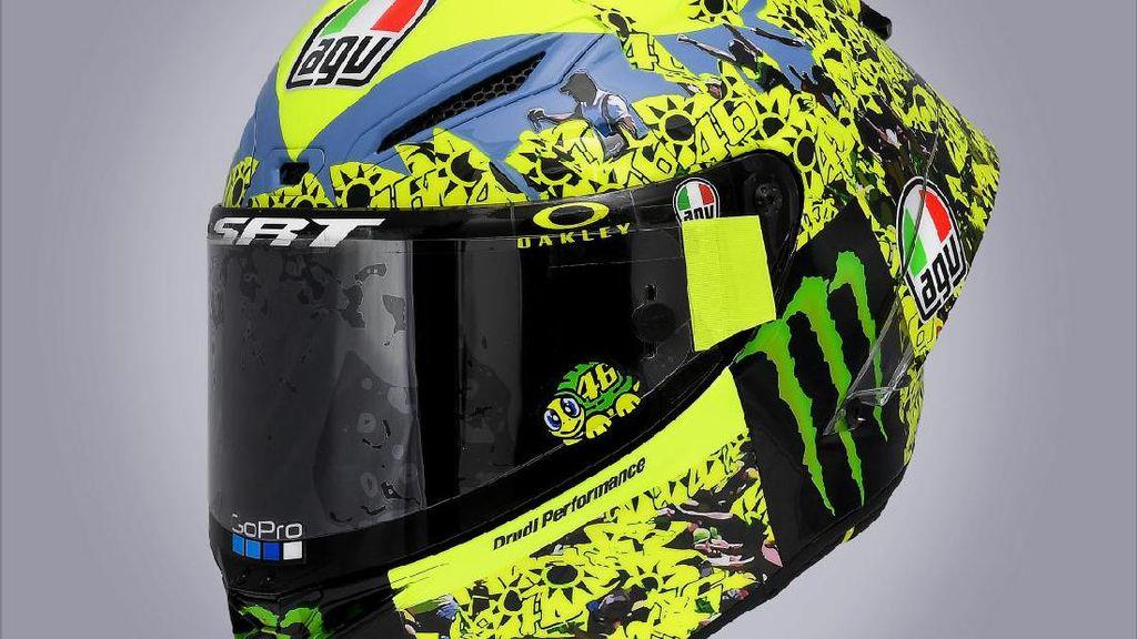 Helm Spesial Rossi di Balapan Kandang Terakhir