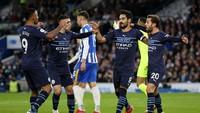 Babak I: Man City Unggul 3-0 atas Brighton