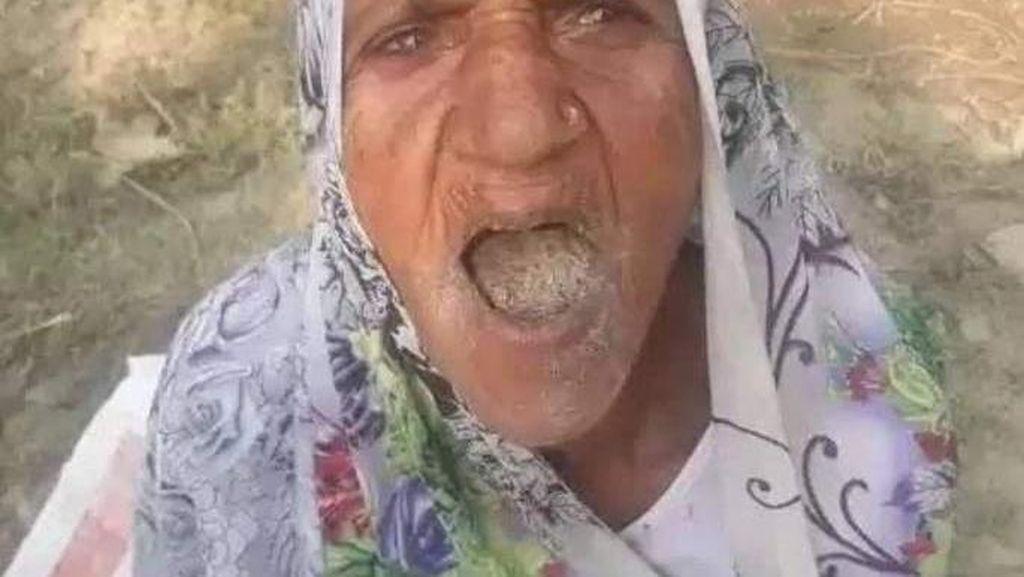 Aneh! Nenek Ini Kecanduan Makan Pasir Selama 65 Tahun