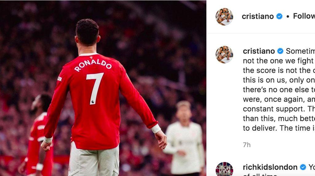 Curhat Ronaldo Usai MU Dibantai Liverpool