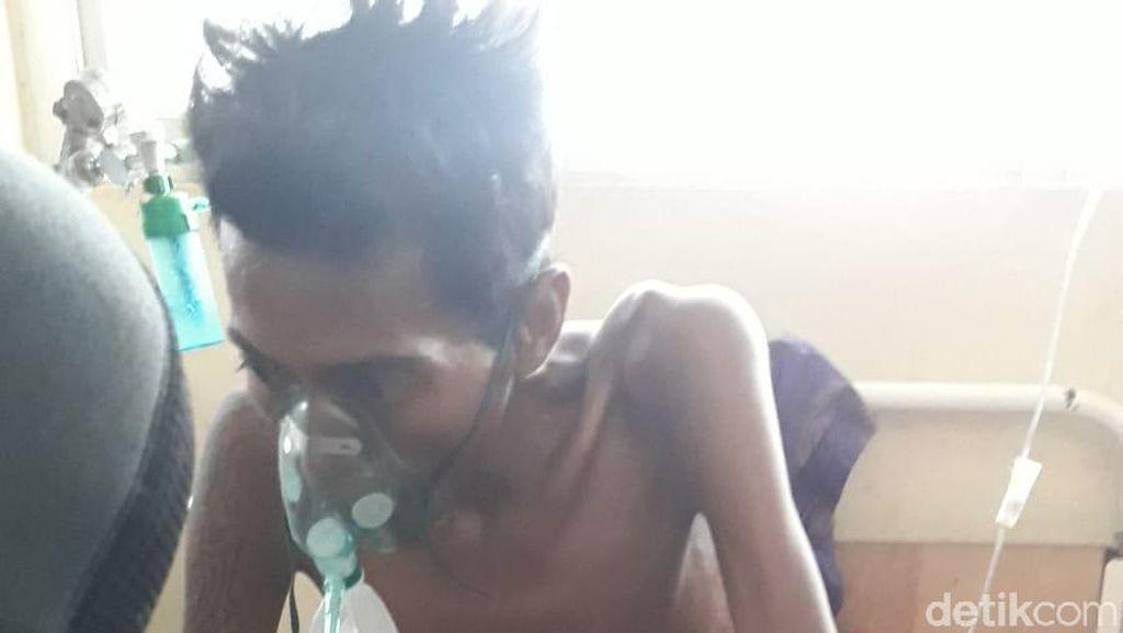 Tolong! Pria di Dompu NTB Alami Tumor Ganas di Perut Hidup Sebatang Kara