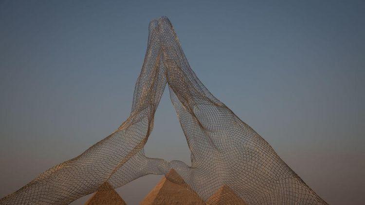 Selamat Datang di Giza! Pameran Seni Digelar di Area Piramida Agung Mesir