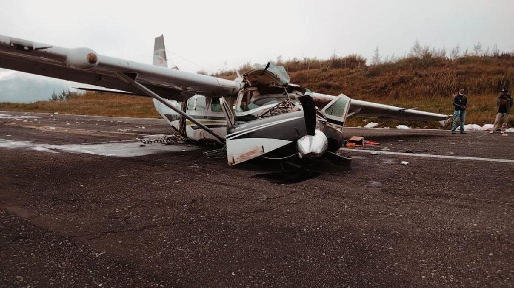 Pesawat Kargo Kecelakaan di Bandara Ilaga Papua, Pilot Tewas