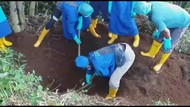 Polres Garut Evakuasi Mayat yang Terkubur di Kaki Gunung Cikuray
