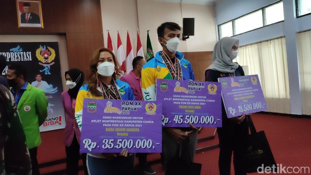 Bonus Buat 13 Atlet Ciamis Peraih Medali di PON Papua Akhirnya Cair