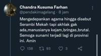 Anggota DPRA Akan Polisikan Warganet Viral Doakan Aceh Kena Tsunami Lagi