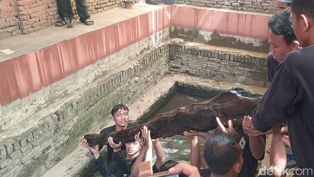 Melihat Tradisi Penyucian Kayu Keramat Peninggalan Pangeran Walangsungsang