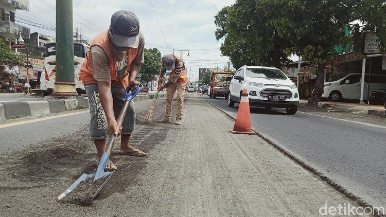 Antisipasi Musim Hujan, Ruas Jalan Yogya-Solo Diperbaiki