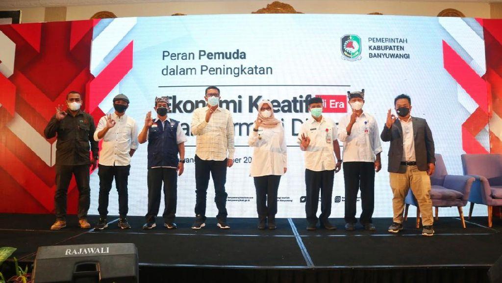 Bupati-Ketua DPRD Banyuwangi Motivasi Dorong Kembangkan Ekonomi Kreatif