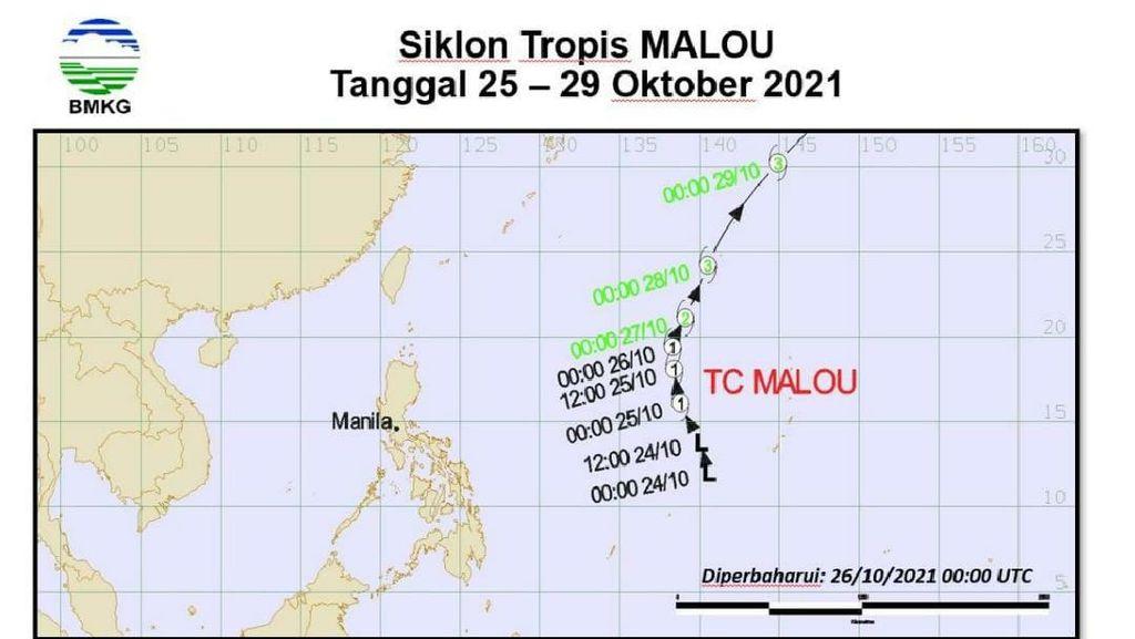 Ada Siklon Tropis Malou, Laut Utara Halmahera Waspada Gelombang Hingga 2,5 M