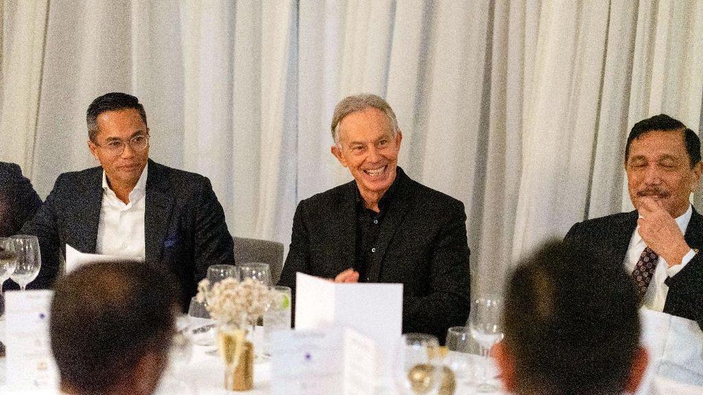 Menko Luhut Bertemu Tony Blair di Inggris, Bahas Apa?