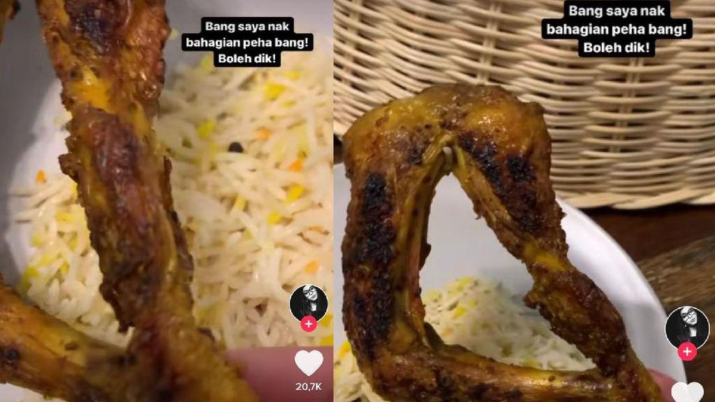 Pesan Nasi Ayam Goreng, Wanita Ini Ngakak Dapat Ayam Nungging