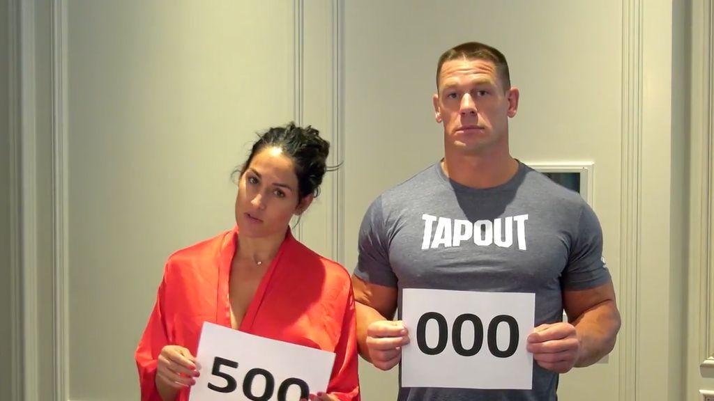 Rayakan 500 Ribu Subscribers, Nikki Bella dan John Cena Bugil