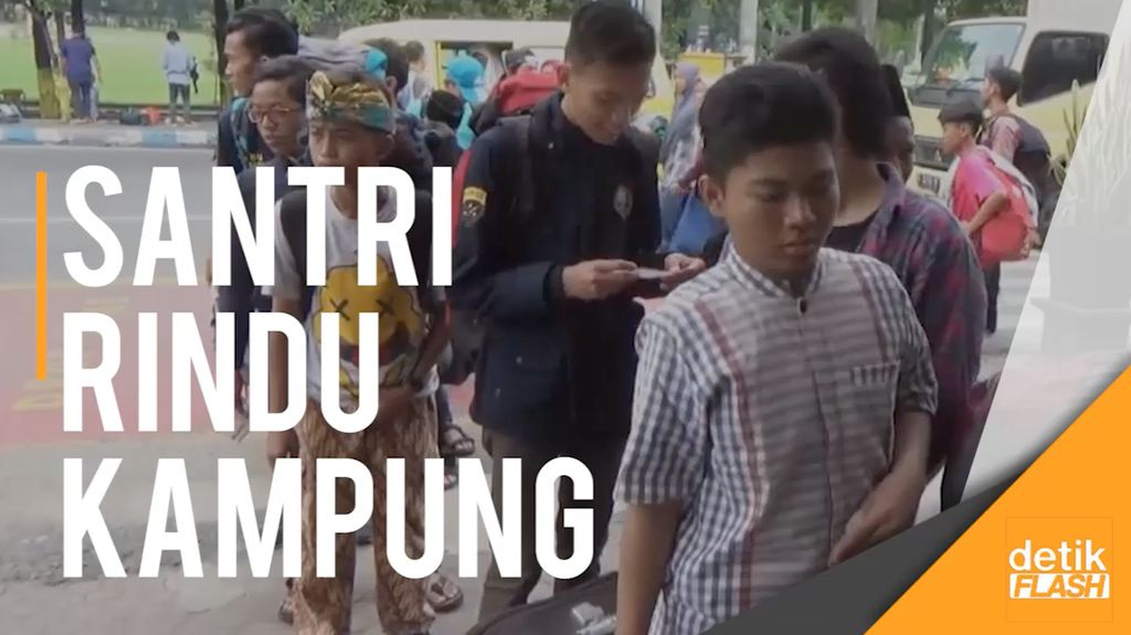 Serunya Mudik Bareng ala Ribuan Santri di Jombang