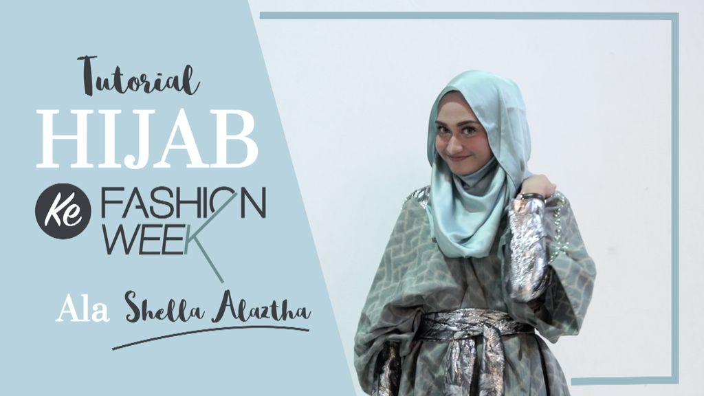 Tutorial Hijab Stylish Saat ke Fashion Week