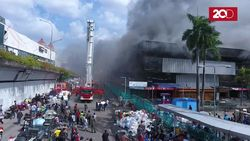 Kebakaran Pasar Senen Dilihat dari Udara