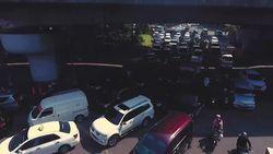 Potret Kemacetan Simpang Pancoran dari Lensa Drone