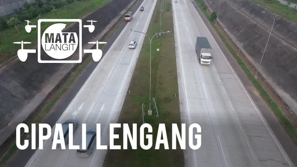 Dari Lensa Drone, Tol Cipali Terpantau Sepi