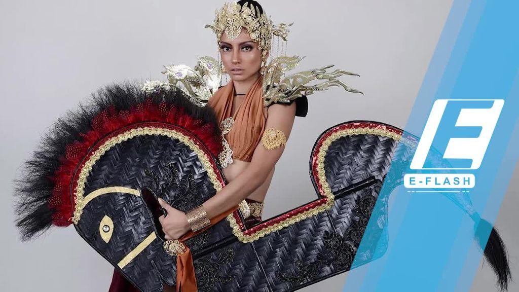 Waduh! Miss Malaysia Kenakan Kuda Lumping