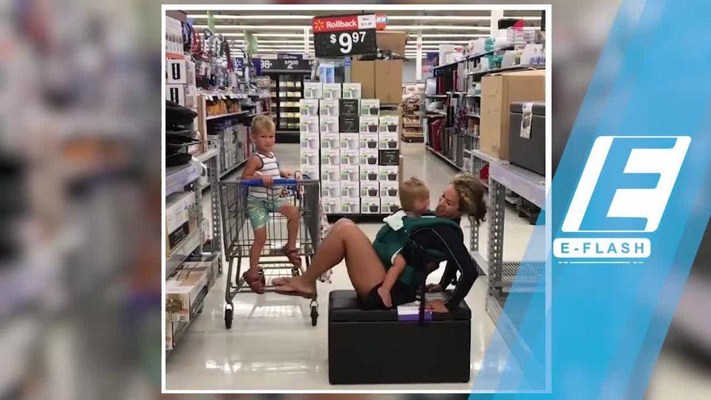 Viral! Ibu Ini Olahraga di Supermarket