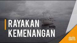 Melihat dari Langit saat Menteri Susi Berpadling Ria di Kapal SS2