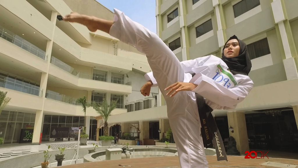 Atlet Taekwondo Cantik ini Menjajal Ajang Pencarian Muslimah Berbakat