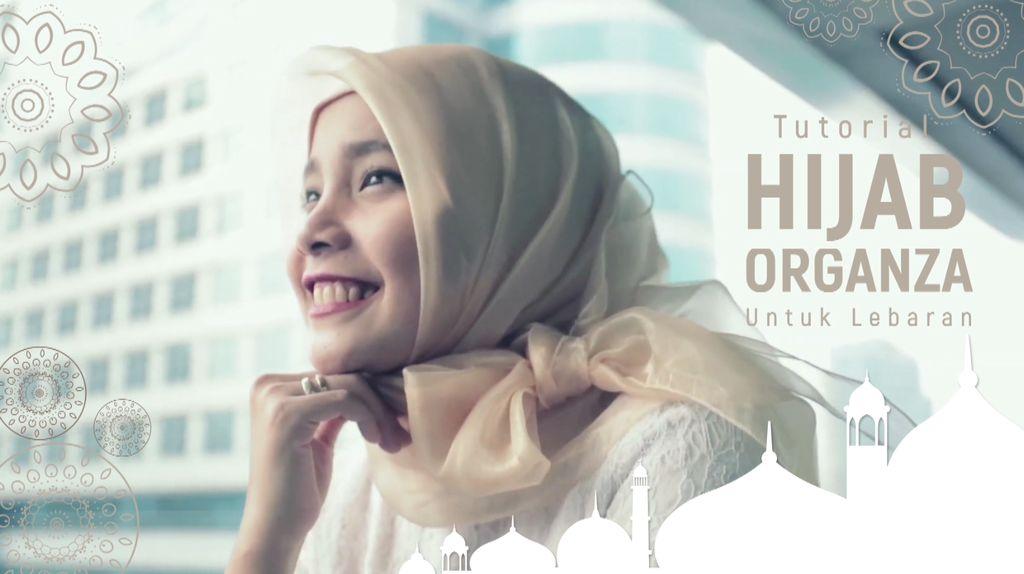 Tutorial Hijab Organza untuk Lebaran