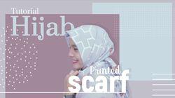 Tampil Manis dengan Printed Hijab Scarf