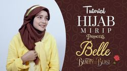 Tutorial Hijab Mirip Princess Belle