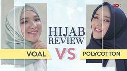 Cara Bedakan Hijab Voal dan Polycotton