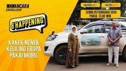 Saksikan d'happening Kakek Nenek Penakluk Eropa Pakai Mobil
