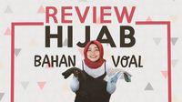 Voal, Tren Bahan Hijab Baru yang Nyaman