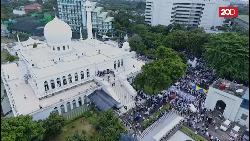 Melihat Persiapan Aksi FPI di Masjid Al Azhar dari Udara
