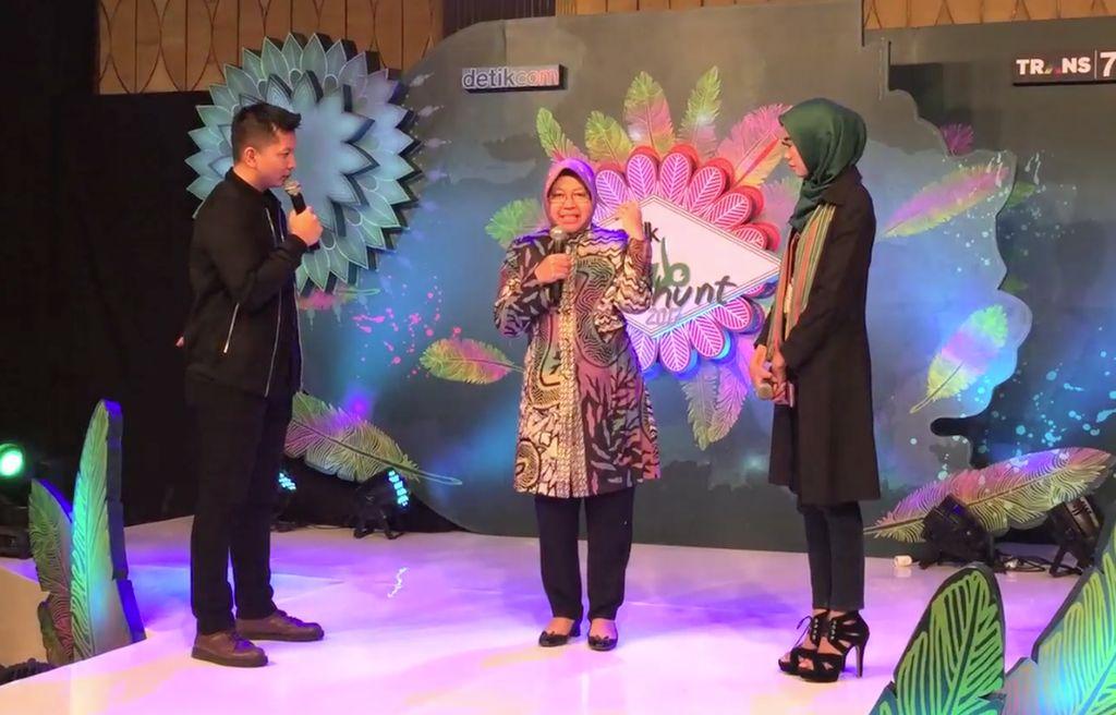 Wah! Risma Mendadak Hadiri Audisi Sunsilk Hijab Hunt 2017 di surabaya