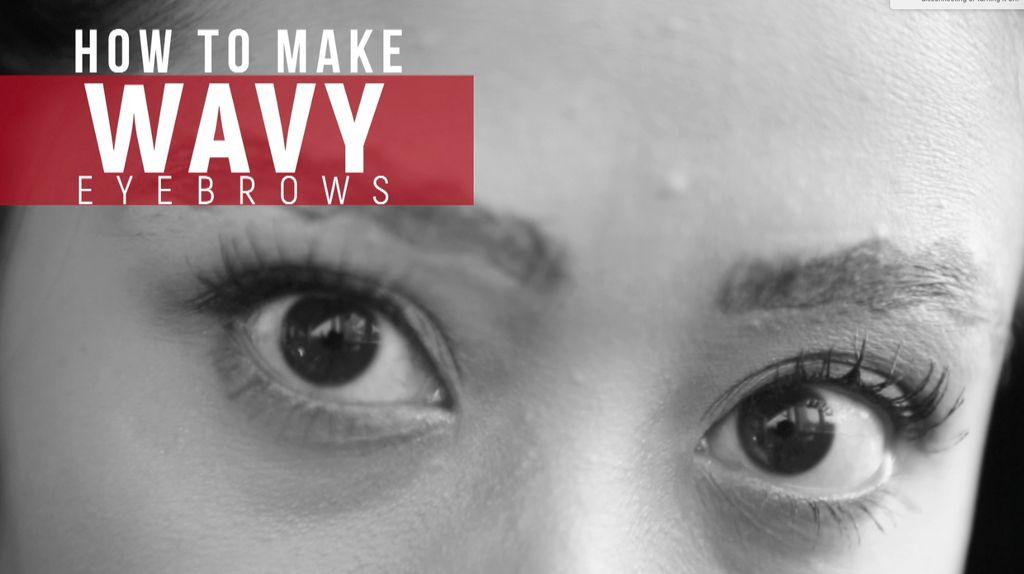 Tren Unik Wavy Eyebrows
