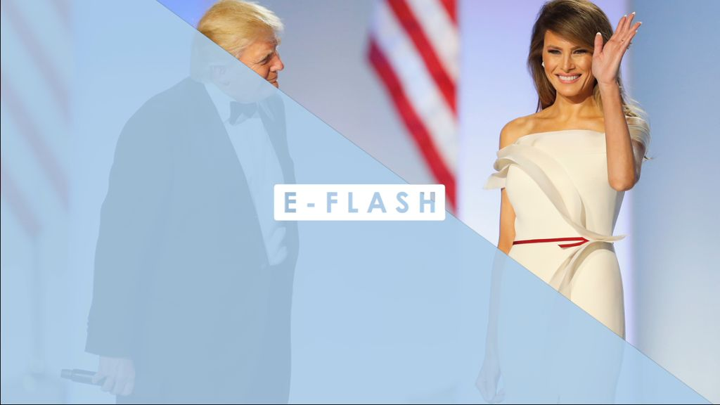 Cantiknya Gaun Melania Saat Dansa Bersama Donald Trump