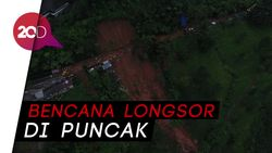 Melihat Proses Evakuasi Longsor di Riung Gunung dari Lensa Drone