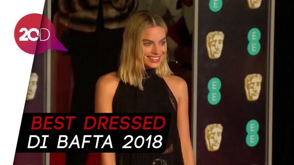 Margot Robbie-Lupita Nyongo Curi Perhatian di Red Carpet BAFTA 2018