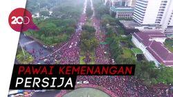 Pendukung Persija Penuhi Ruas Jalan Ibu Kota