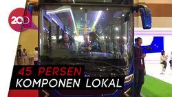 Bus Listrik Karya Mobil Anak Bangsa Mejeng di GIICOMVEC 2018