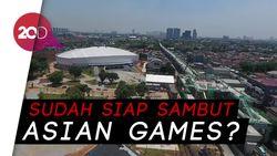 Menengok Perkembangan Proyek LRT Jakarta dari Udara