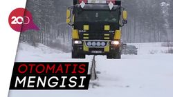 Canggih! Ada Track Pengisian Kendaraan Listrik Otomatis di Swedia